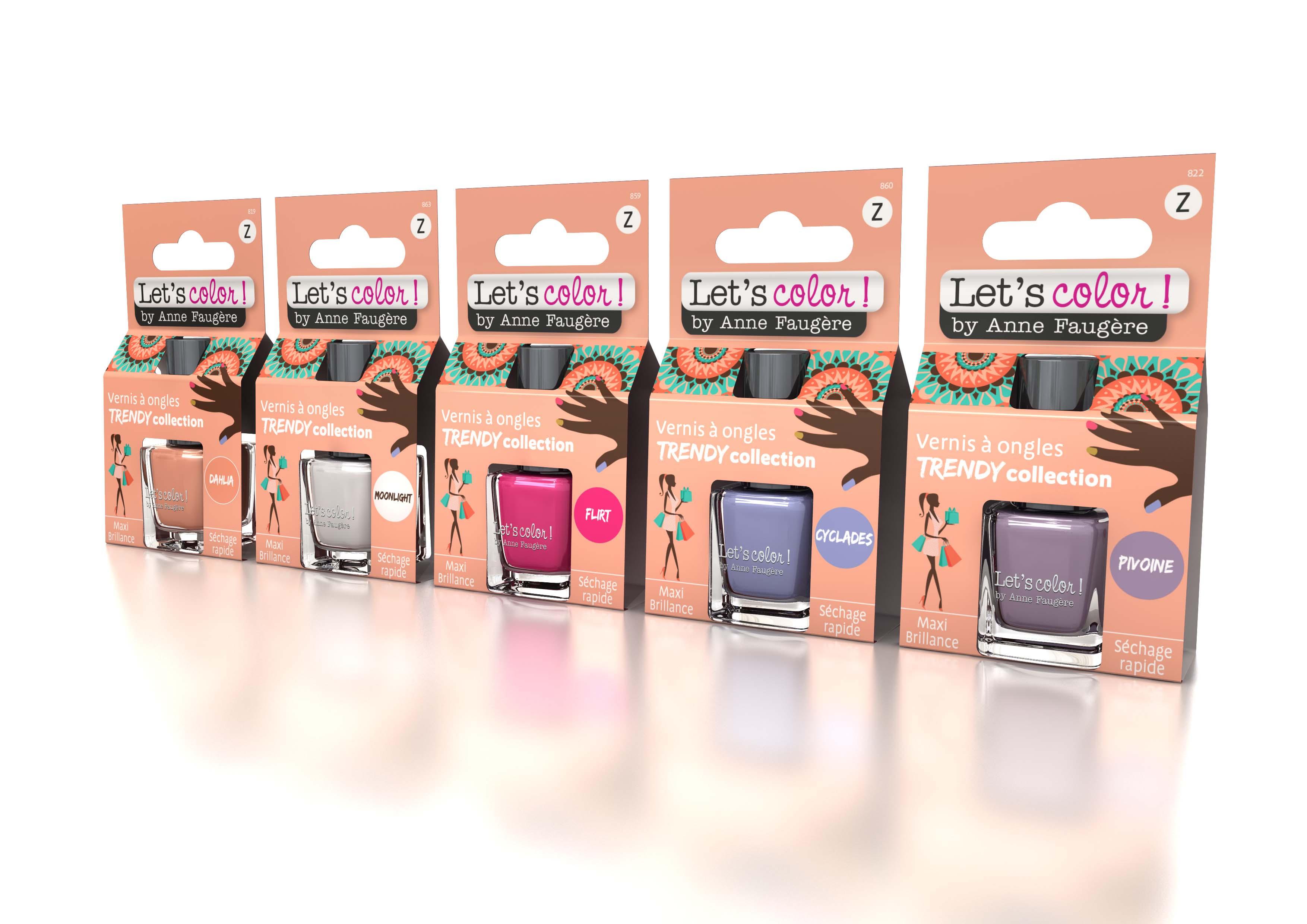 Gamme Dahlia Lets Color by Anne Faug%C3%A8re - Les vernis à ongles Let's Color by Anne Faugère