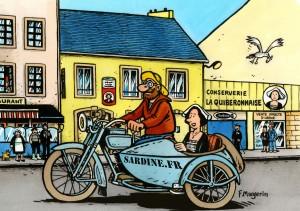 Illustration Frank Margerin pour La Quiberonnaise. Cliquez sur le visuel pour le télécharger.