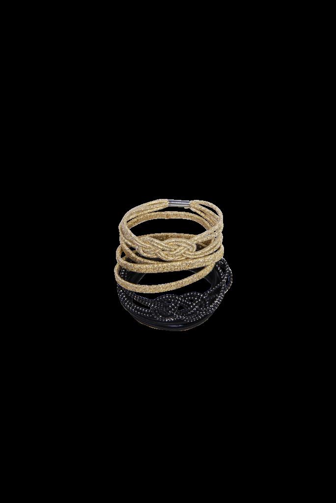 Élastiques nœuds noir et doré 2.50 € Cliquez sur le visuel pour le télécharger