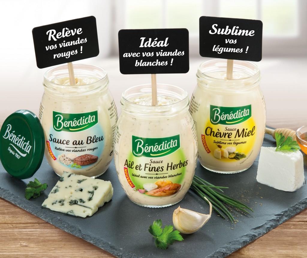 3 sauces fromagères Bénédicta  Cliquez sur la vignette pour télécharger le visuel