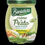 Crème de Pesto Bénédicta en bocal de verre  Cliquez sur la vignette pour télécharger le visuel