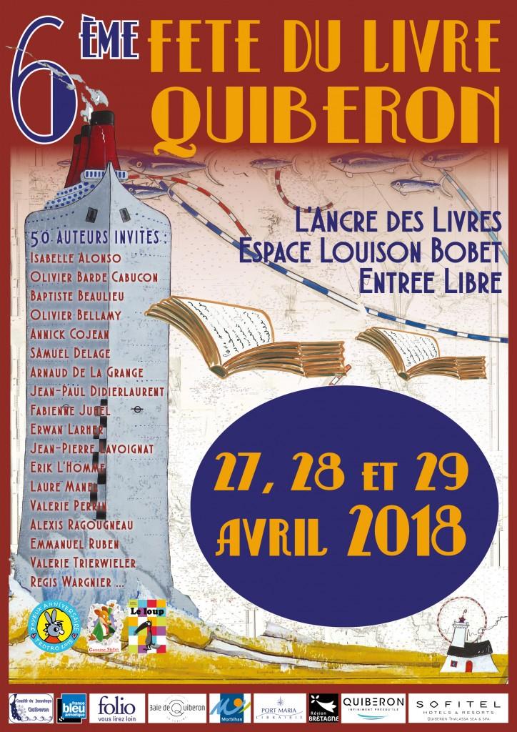 Affiche HD Fête du Livre Quiberon 2018 Cliquez sur le visuel pour le télécharger